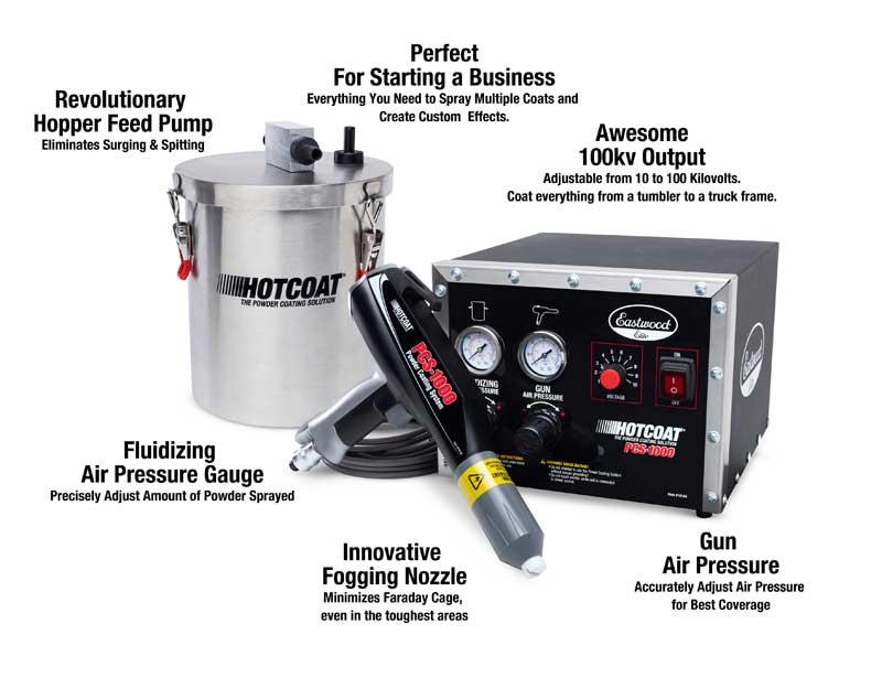 Eastwood Elite HotCoat PCS-1000 Powder Coating Gun System