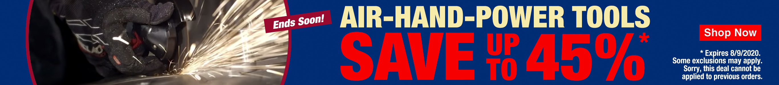 Save Up To 45% On Air, Hand and Power Tools