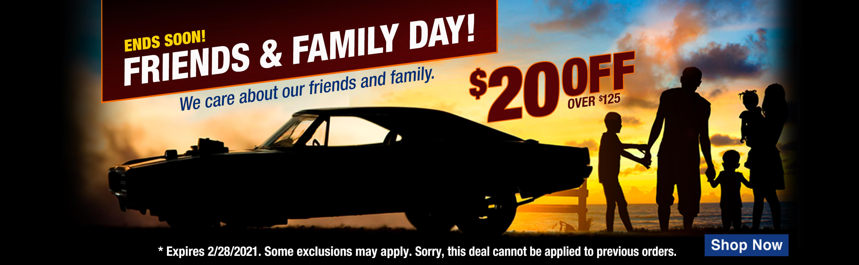 Friends & Family Save $20 Off Orders Over $125