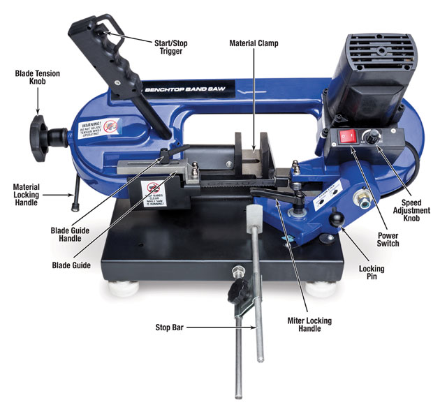 Eastwood Benchtop Metal Cutting Bandsaw