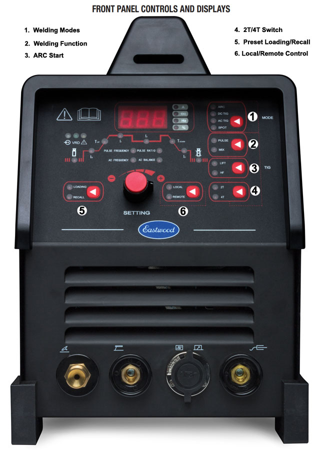 Eastwood TIG 200 Digital AC/DC Welder