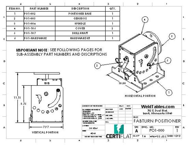 DIY Welding Positioner Kit