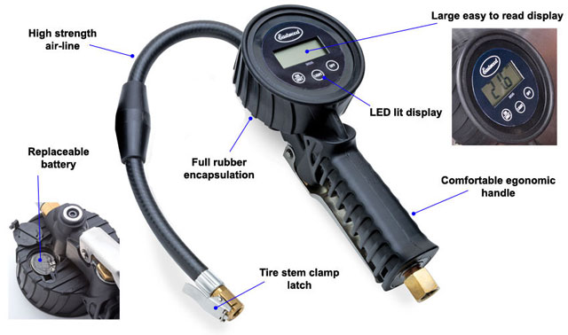 eastwood digital tire pressure gauge inflator. Black Bedroom Furniture Sets. Home Design Ideas