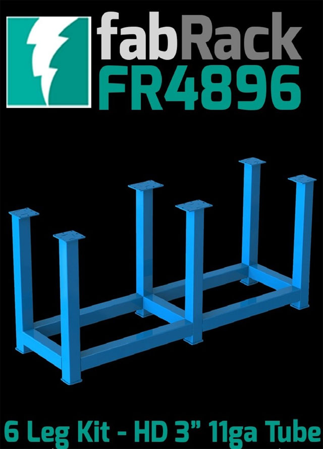 Certiflat Fr4896 U 48 Quot X 96 Quot Fabrack 6 Leg Kit For Fabblocks