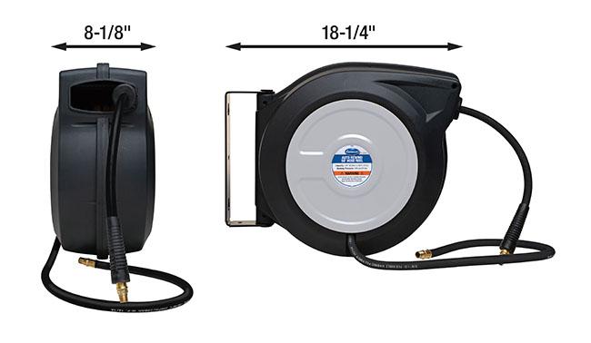 Eastwood 50ft Air Hose Reel with Hybrid Flex Polymer Hose