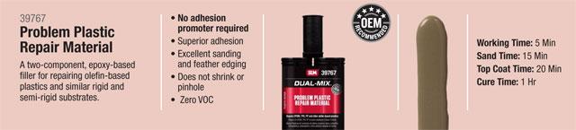 SEM Dual Mix Problem Plastic Repair Material
