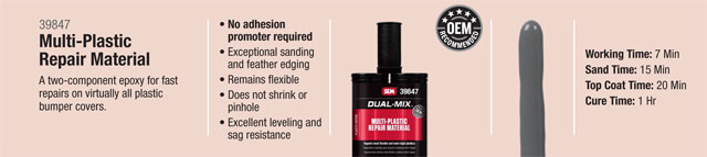 SEM Dual Mix Multi-Plastic Repair Material