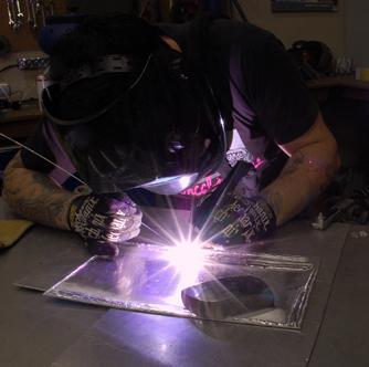 TIG welding Practice