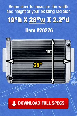 Maxx Power Tri-Flow Radiator 27.5inch wide radiator - Item number 20152