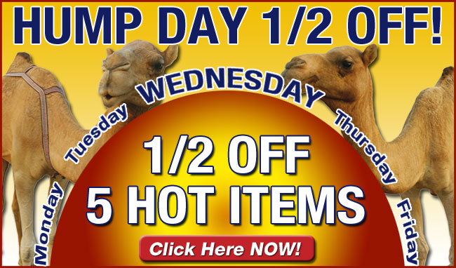 Hump Day 1/2 Off!
