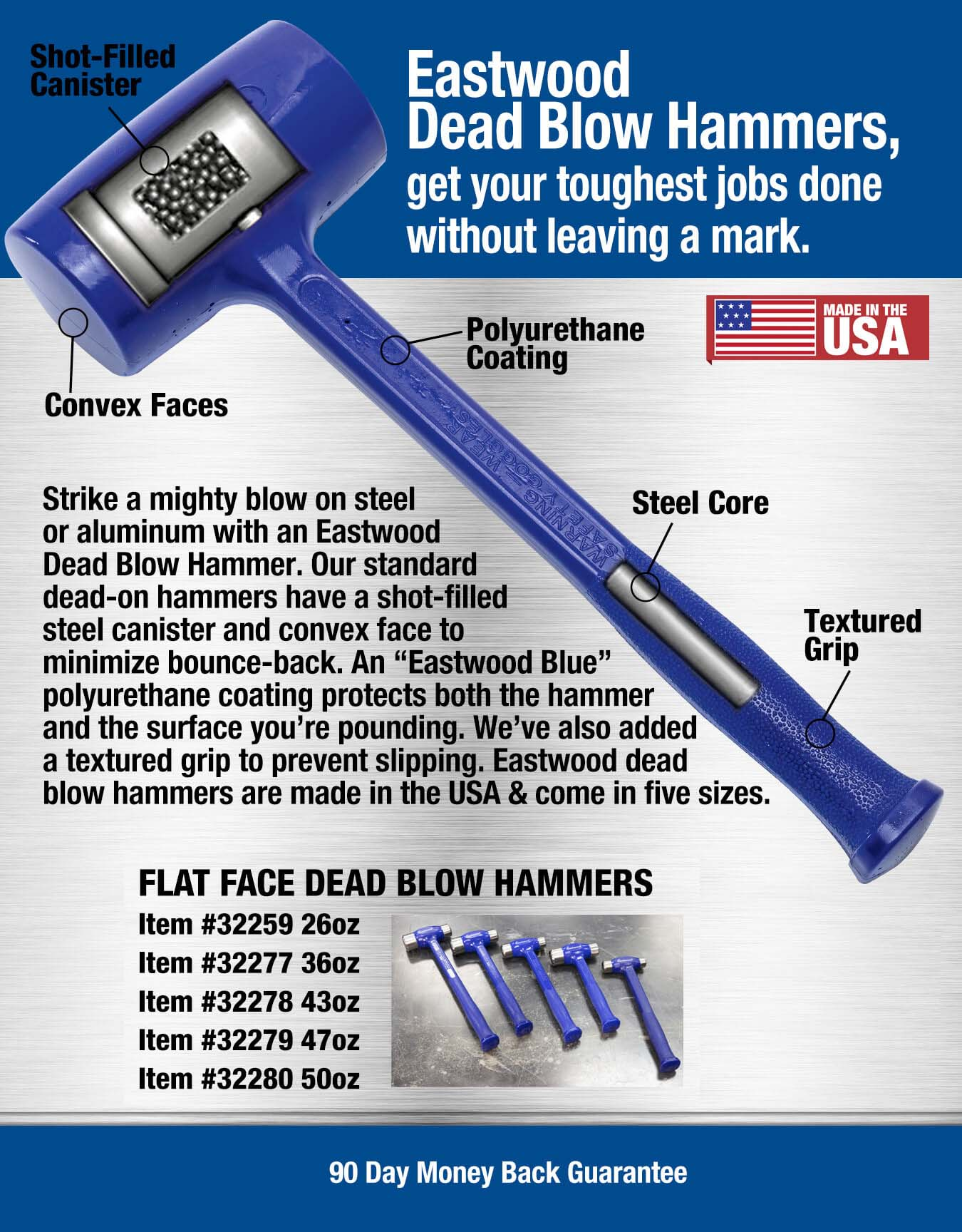 Eastwood Dead Blow Sledge Hammer