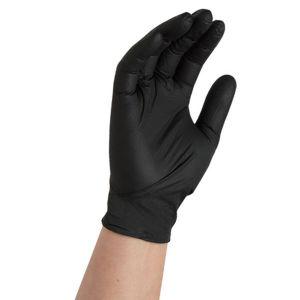 Black Nitrile Gloves - Large