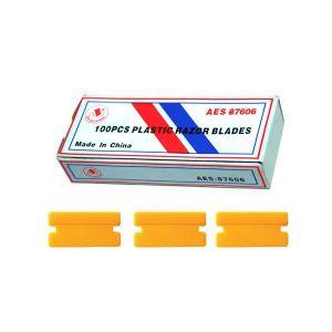 Plastic Razor Blades 100 pack AES 87606