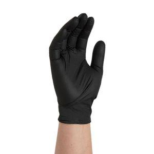 Textured Black Nitrile Gloves