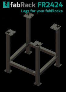 "CertiFlat FR2424-U 24"" X 24"" fabRack Leg Kit for fabBlocks"