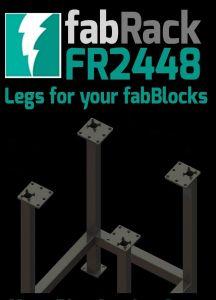 "CertiFlat FR2448-U 24"" X 48"" fabRack Leg Kit for fabBlocks"