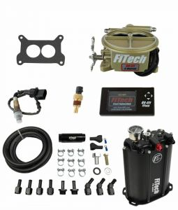 FiTech Go EFI 2 Barrel Kit - 400HP - Classic Gold - w/Force Fuel System 35001