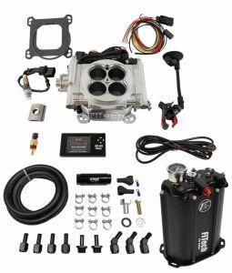 FiTech Go EFI 4 Barrel Kit - 600HP - Aluminum Finish - w/ Force Fuel System 35201