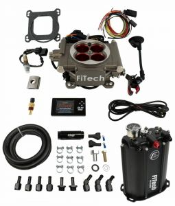 FiTech Go Street 4 Barrel Kit - 400HP - Cast Finish - w/ Force Fuel System 35203