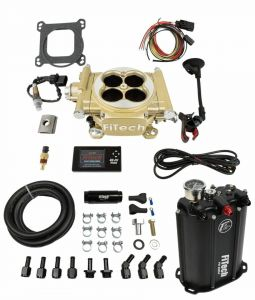FiTech Easy Street 4 Barrel Kit - 600HP - Classic Gold - w/ Force Fuel System 35205