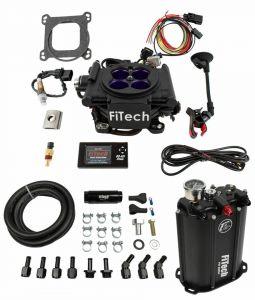 FiTech Mean Street 4 Barrel Kit - 800HP - Black Finish - w/ Force Fuel System 35208
