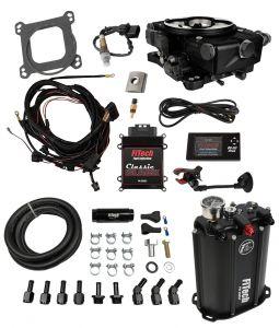 FiTech Go EFI Classic 4 Barrel Kit - 550HP - Black Finish - External ECU - w/Force Fuel System 35221