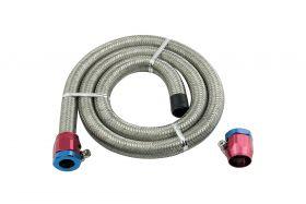 Mr. Gasket Braided Steel Fuel Line Kit - 3/8 Inch x 3' 1526