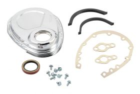 55-91 GM 265-400 Small Block Mr. Gasket Timing Cover - Chrome 4590