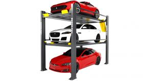 BendPak HD-973PX-G - Tri-Level Parking Lift - Special Order - Extended Length - High Lift - Galvanized - 9000 lb. & 7000 lb. Capacity 5175268