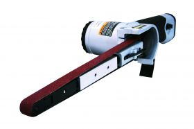 Astro Pneumatic Air Belt Sander (1/2 Inch x 18 Inch) with 3pc Belts (#36 - #40 & #60) 3037