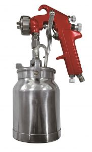 Astro Pneumatic Spray Gun with Cup - Red Handle 1.8mm Nozzle 4008
