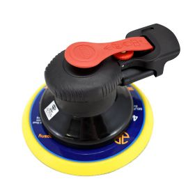 Astro Pneumatic ONYX 6 Inch Finishing Palm Sander with 6 Inch PU PSA Backing Pad - 3/16 Inch Stroke 322P