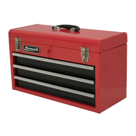 Homak 20 Inch Red 3 Drawer Toolbox RD01032101