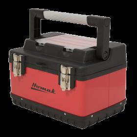 Homak 20 InchRed Metal & Plastic Hand-Carry w/ Aluminum Handle RD00120004