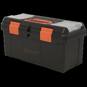 Homak 16 Inch Plastic Tool Box w/ Tray & Dividers BK00116004
