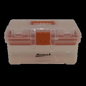 Homak 15 Inch Plastic Transparent Toolbox w/ Tray  TP00115088