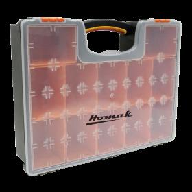 Homak Plastic Organizer w/ 12 Removable Bins HA01112425