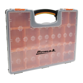 Homak Plastic Organizer w/ 22 Removable Bins HA01122238