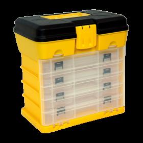 Homak Small Portable Plastic Parts Organizer HA01040101