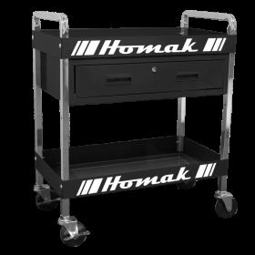 Homak 30 Inch 1 - DRAWER SERVICE CART - BLACK BK06030210