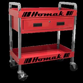 Homak 30 Inch 1 - DRAWER SERVICE CART  - RED RD06030210