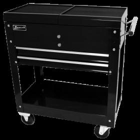 Homak 27 Inch Professional Tool Cart w/ 2 Drawers - Black  BK06022704