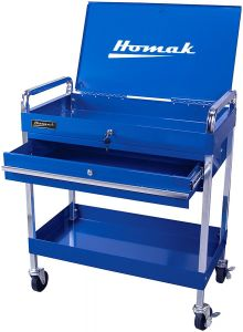 Homak 1-DRAWER FLIP-TOP SERVICE CART BL06030341