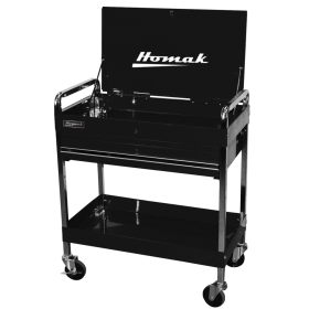 Homak 32 Inch Professional 1 Drawer Service Cart - Black  BK05500190