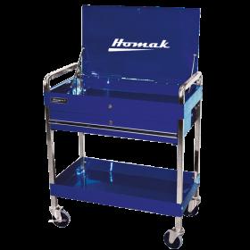 Homak 32 Inch Professional 1 Drawer Service Cart - Blue BL05500190