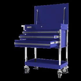 Homak 34 Inch Professional 3 Drawer Service Cart - Blue BL05500200