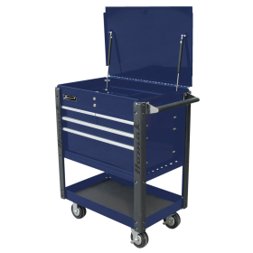 Homak 35 Inch Professional 4  Drawer Service Cart  - BLUE  BL06032000