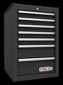 Homak 14 1/2 Inch Inch Pro II 7-Drawer Side Cabinet - Black BK08014552