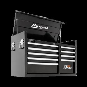 Homak 41 Inch H2Pro Series 9 Drawer Top Chest - Black  BK02041091