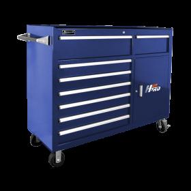 Homak 56 Inch H2Pro  8 Drawer w/ 2 Drawer Comp Roller - Blue BL04056082
